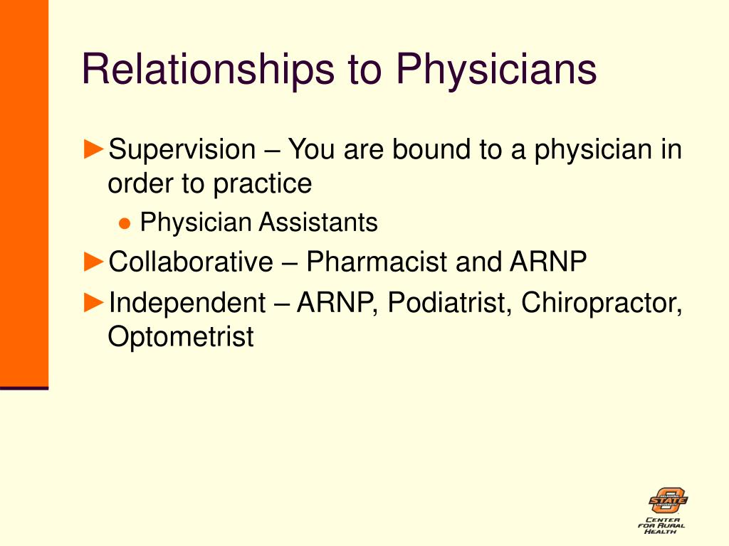 Relationships to Physicians