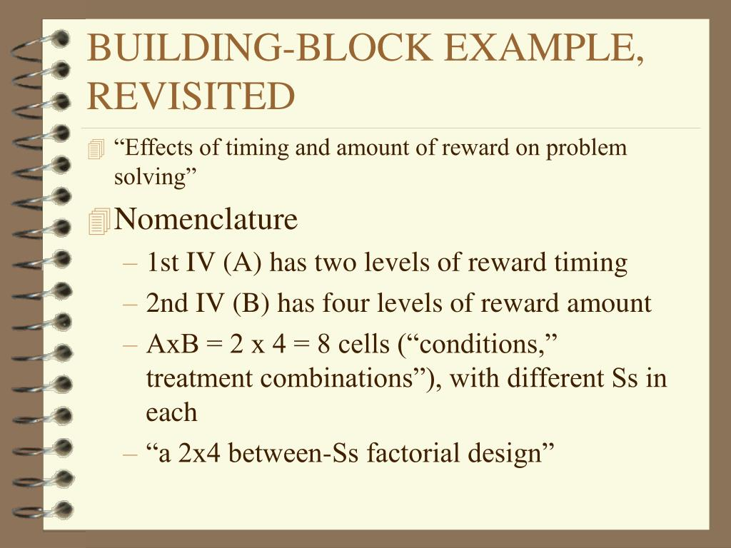 BUILDING-BLOCK EXAMPLE, REVISITED