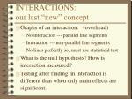 interactions our last new concept
