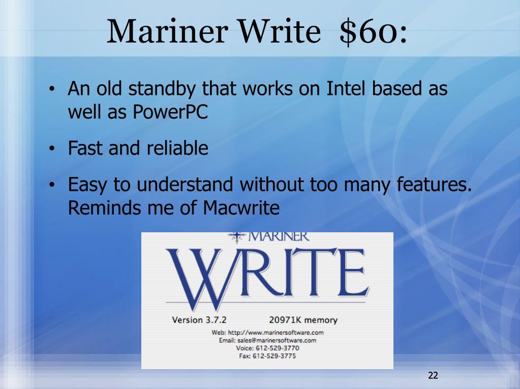 Mariner Write  $60:
