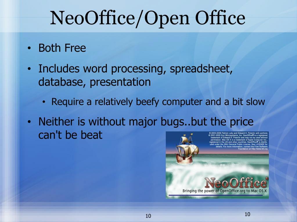 NeoOffice/Open Office