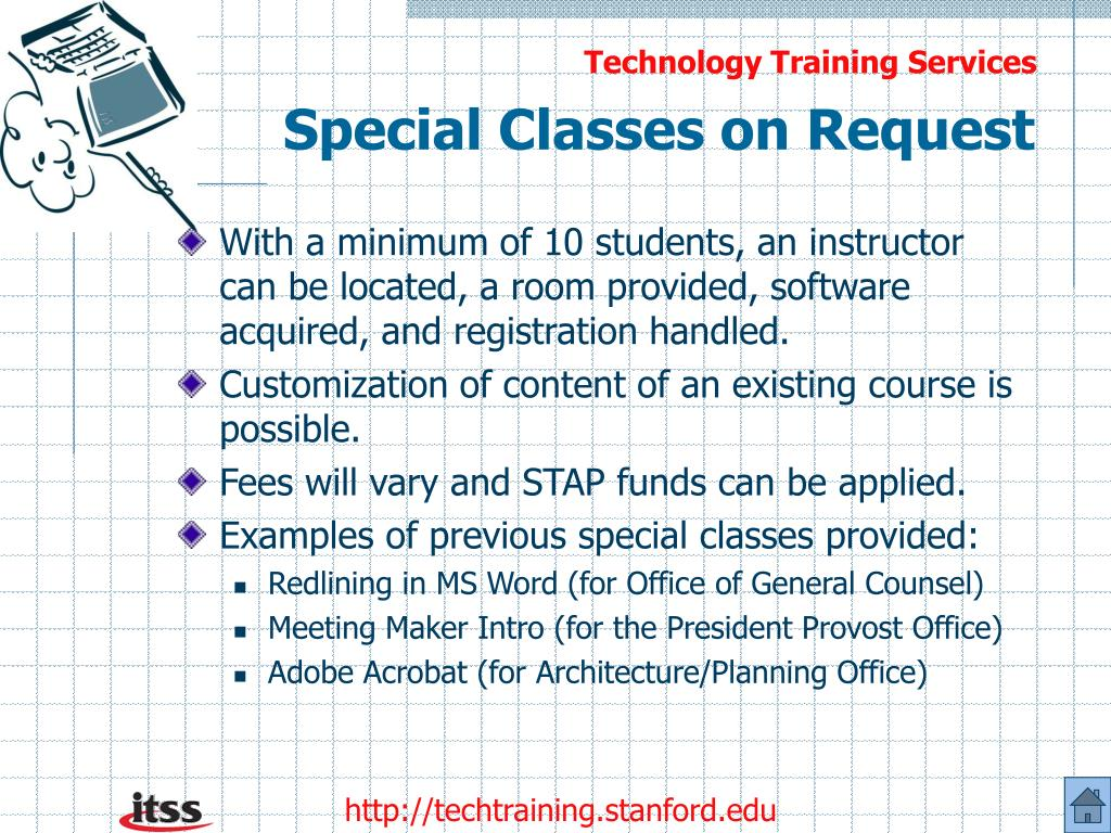 Special Classes on Request