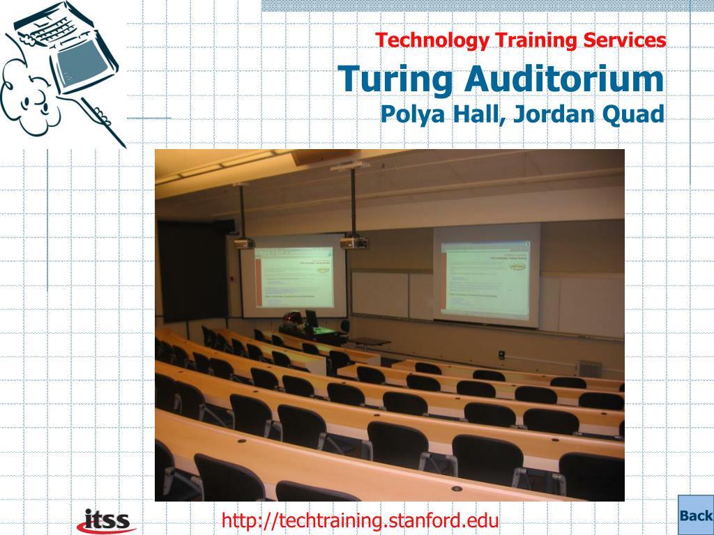 Turing Auditorium