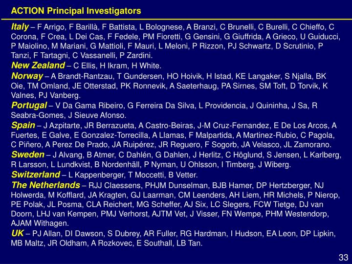 ACTION Principal Investigators