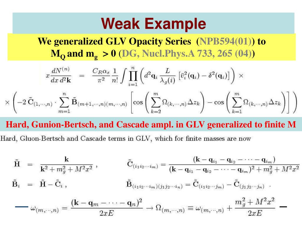 Weak Example