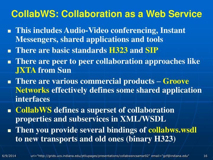 CollabWS: Collaboration as a Web Service