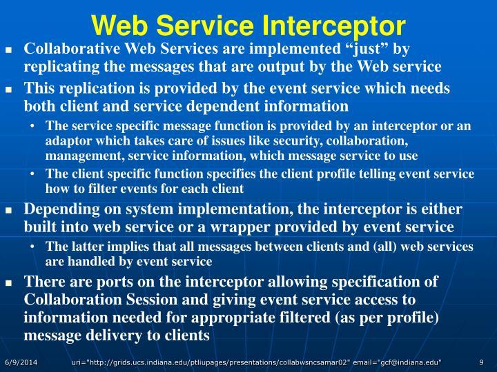 Web Service Interceptor