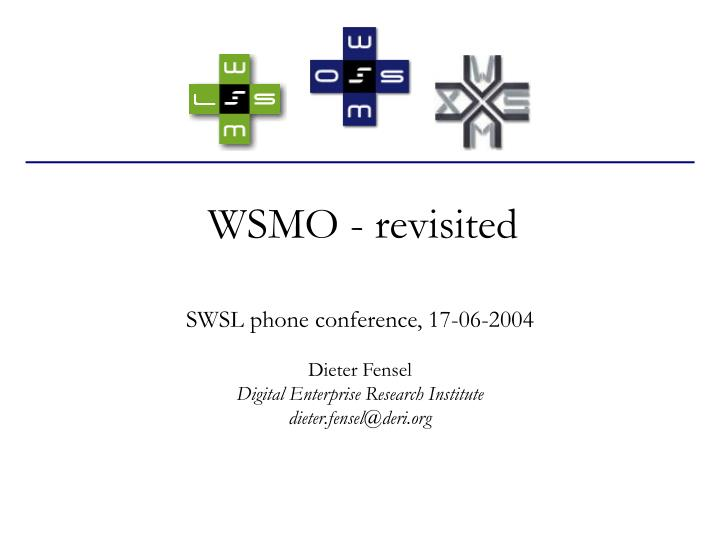 Wsmo revisited