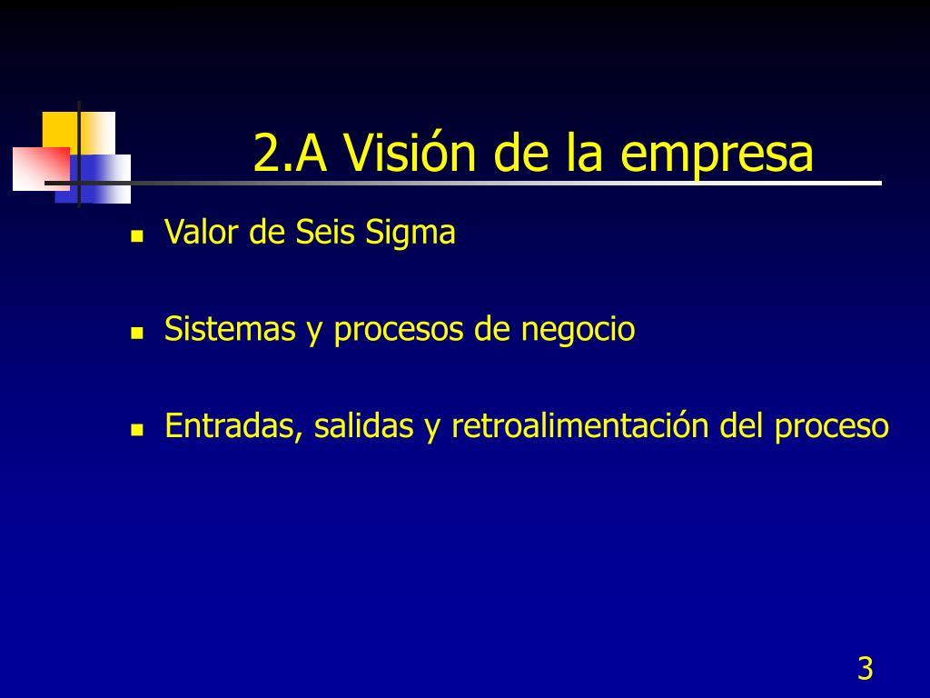 2.A Visión de la empresa