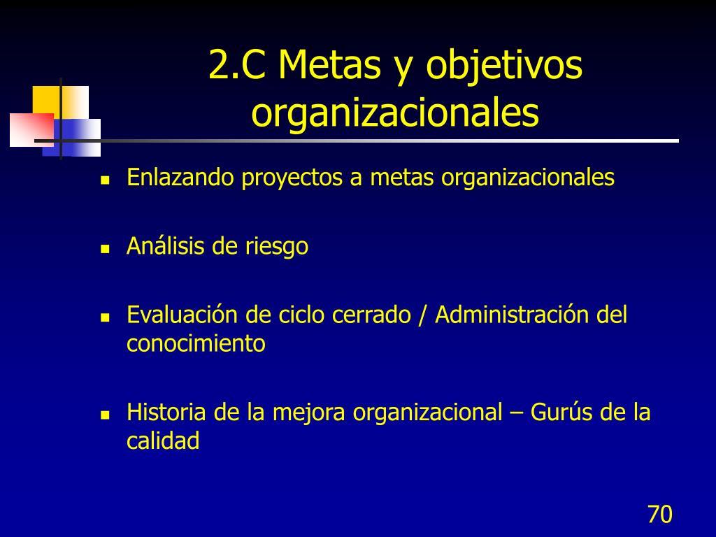 2.C Metas y objetivos organizacionales