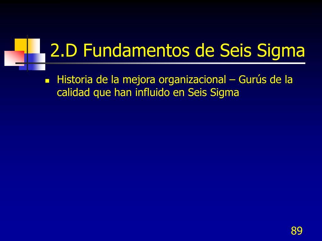 2.D Fundamentos de Seis Sigma