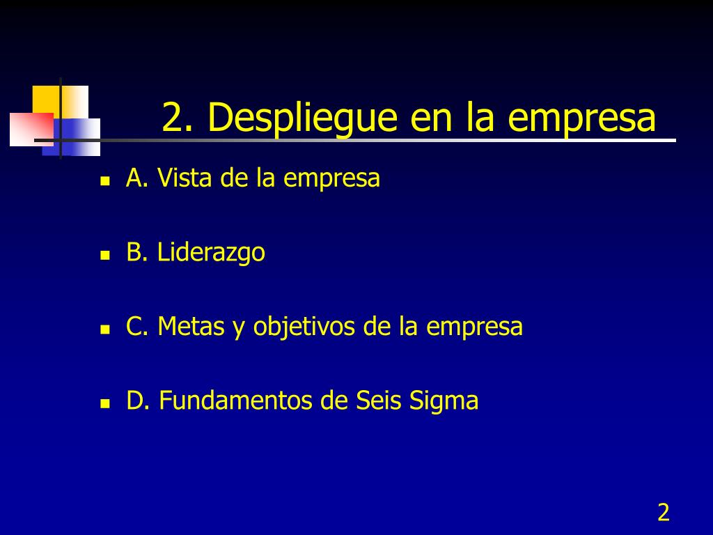 2. Despliegue en la empresa