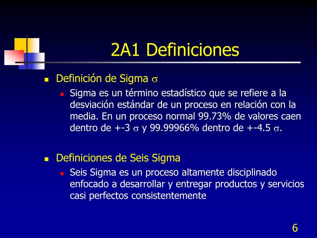 2A1 Definiciones