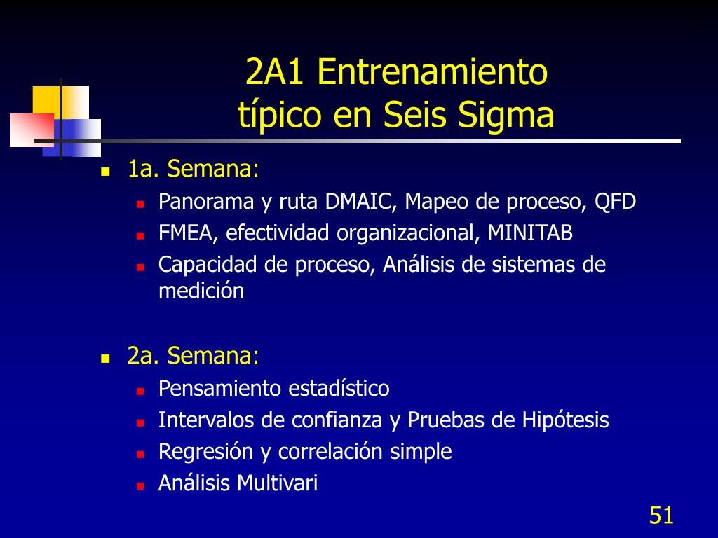 2A1 Entrenamiento