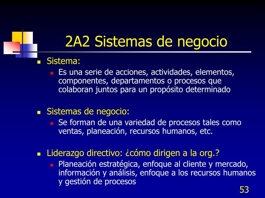 2A2 Sistemas de negocio
