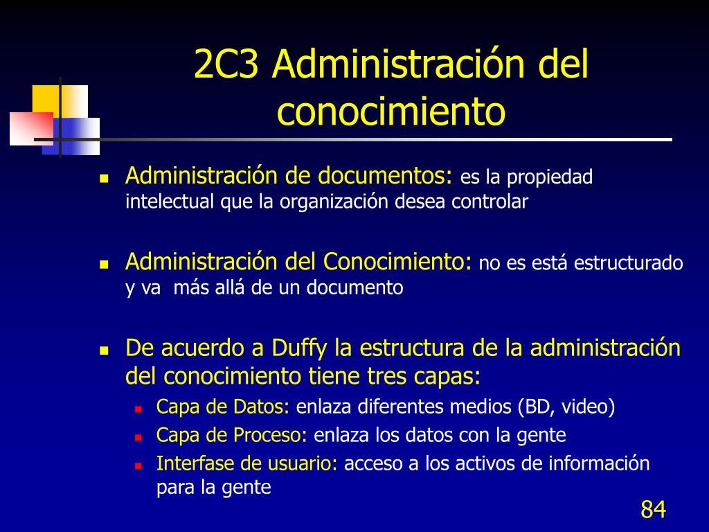 2C3 Administración del conocimiento
