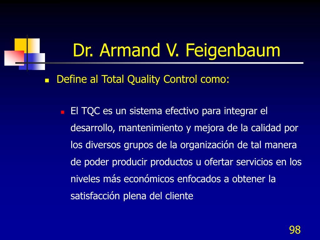 Dr. Armand V. Feigenbaum