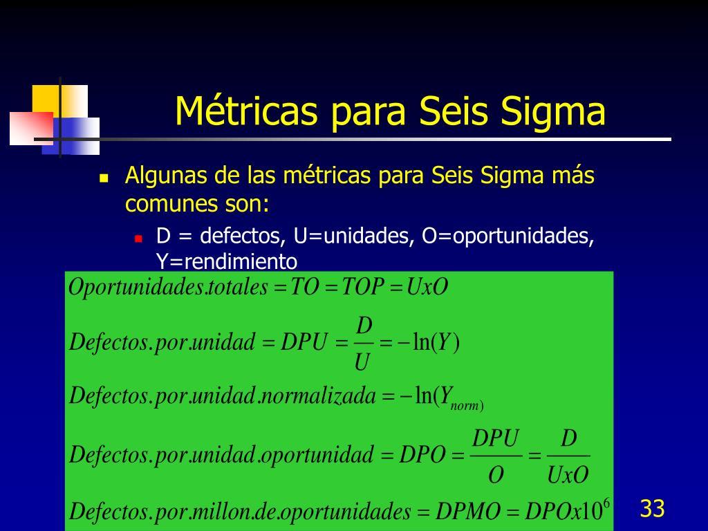 Métricas para Seis Sigma