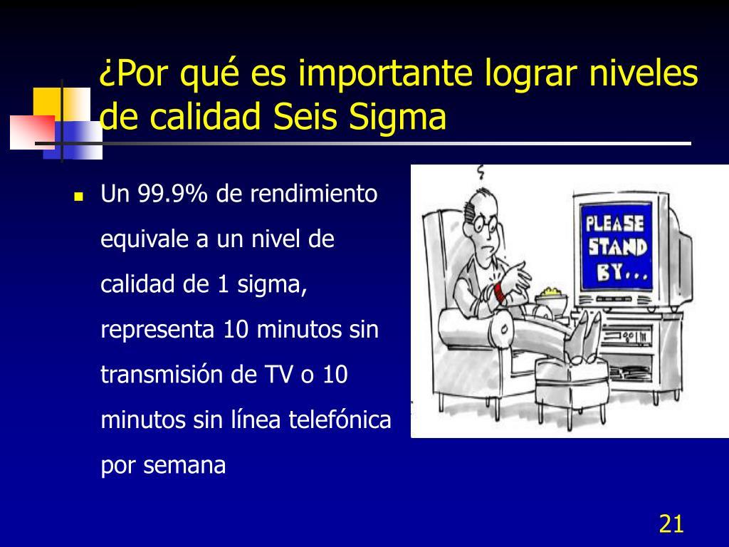 ¿Por qué es importante lograr niveles de calidad Seis Sigma