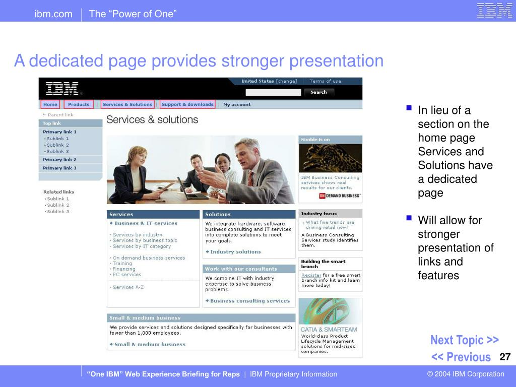 A dedicated page provides stronger presentation