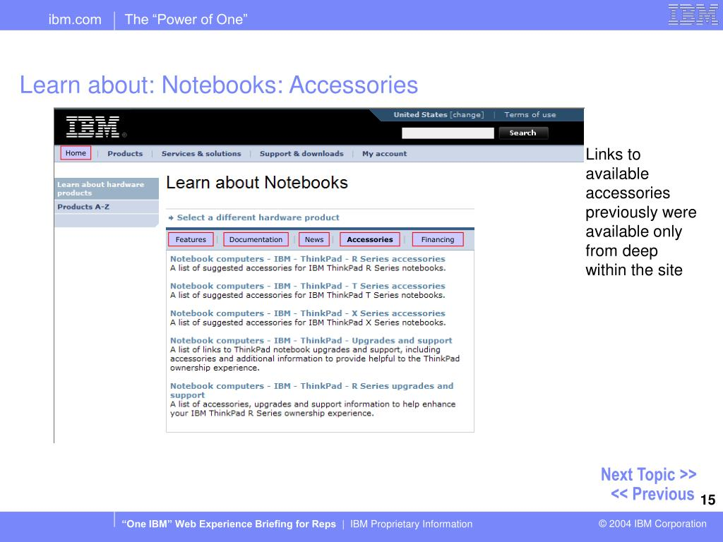 Learn about: Notebooks: Accessories