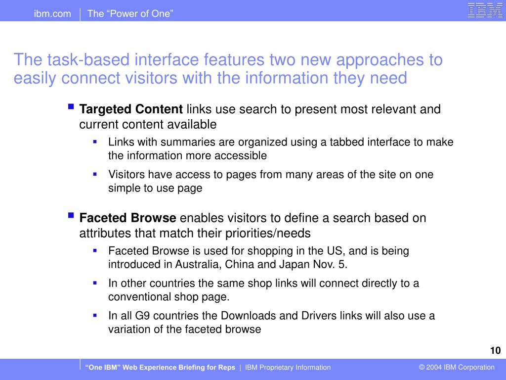 The task-based interface features two new approaches to easily connect visitors with the information they need