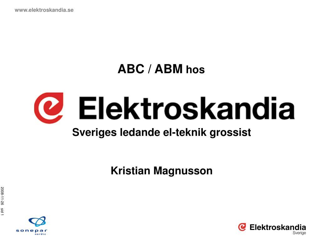 ABC / ABM