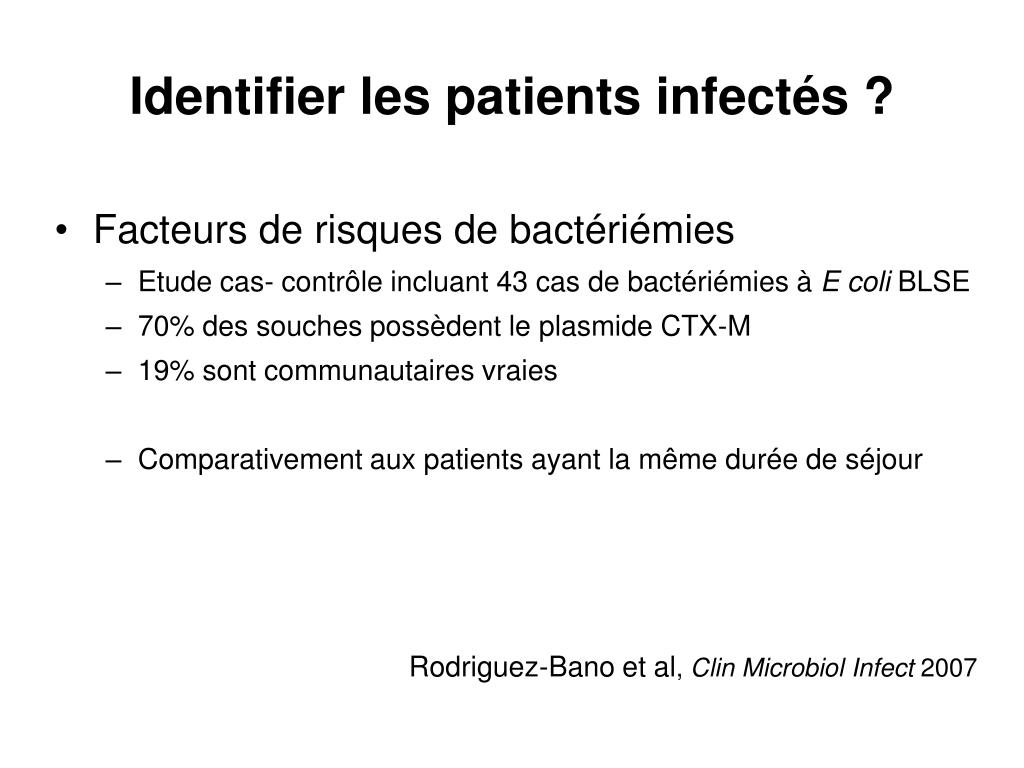 Identifier les patients infectés ?
