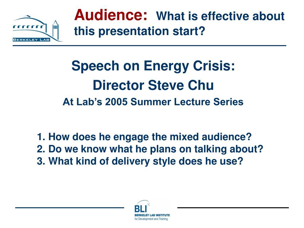 Audience: