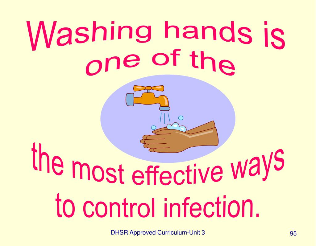 Washing hands is