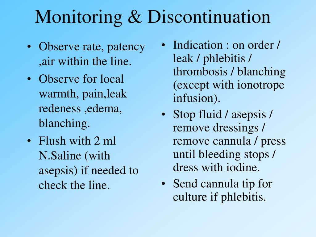 Monitoring & Discontinuation