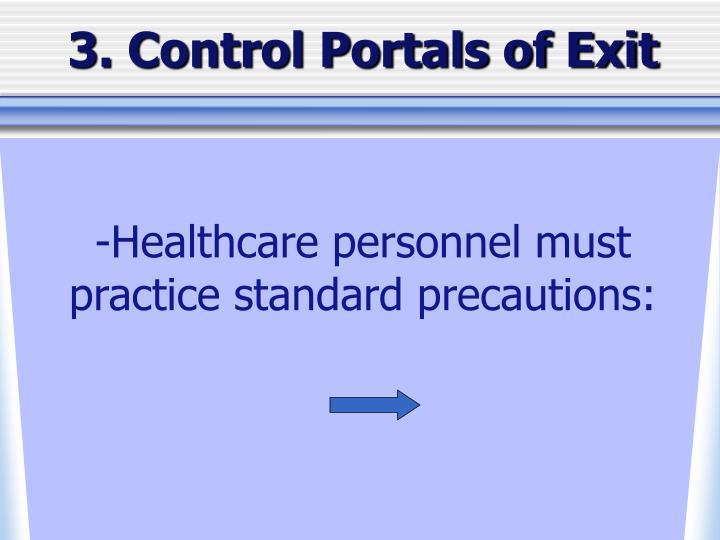 3. Control Portals of Exit