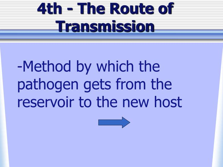 4th - The Route of Transmission