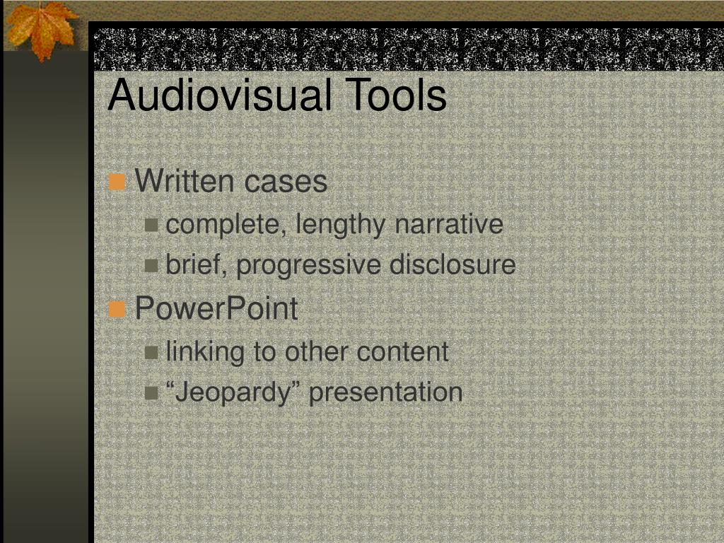 Audiovisual Tools