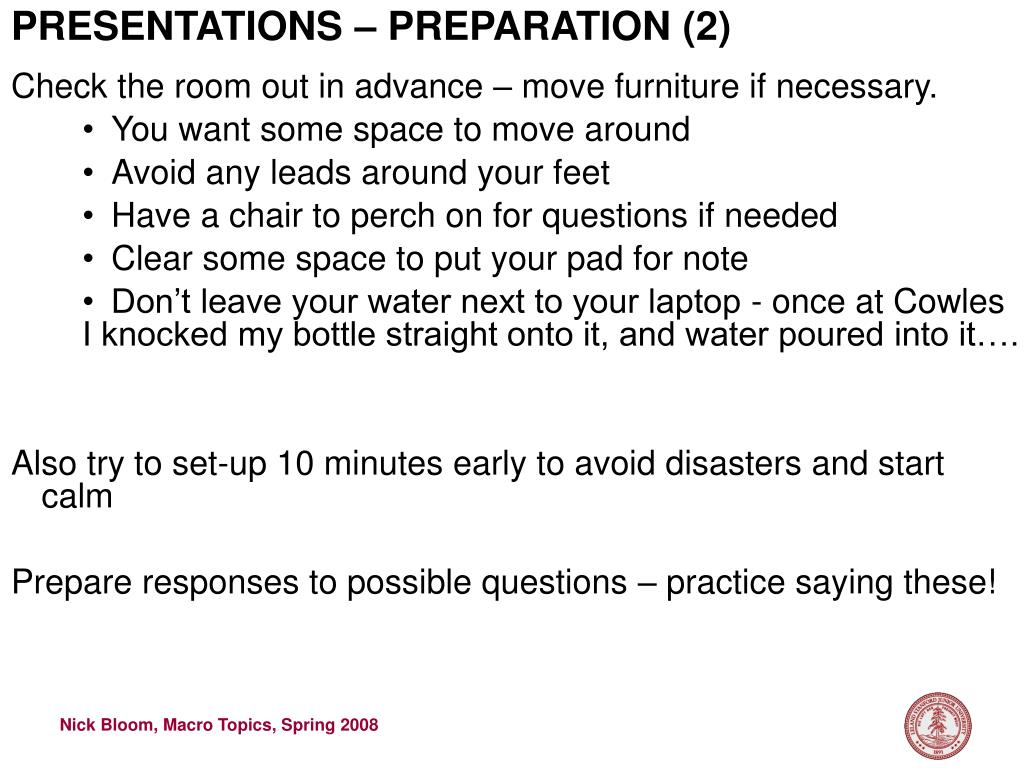 PRESENTATIONS – PREPARATION (2)