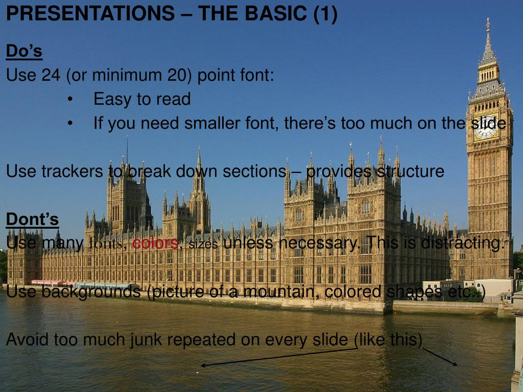 PRESENTATIONS – THE BASIC (1)