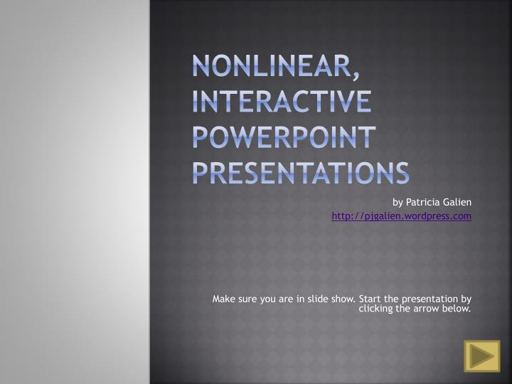 Nonlinear interactive powerpoint presentations
