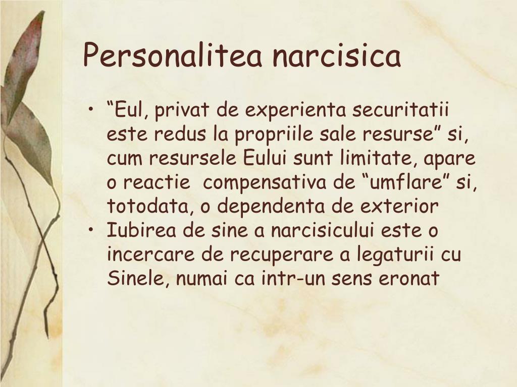 Personalitea narcisica