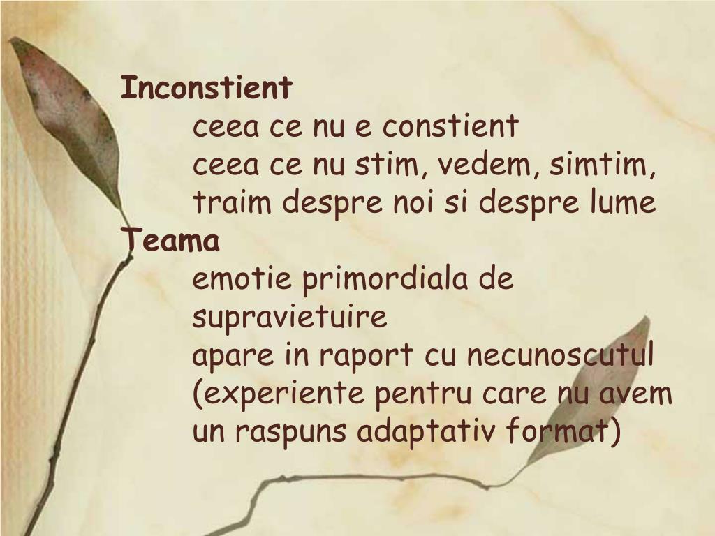 Inconstient