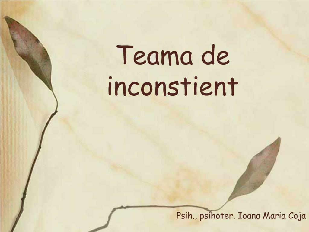 Teama de inconstient