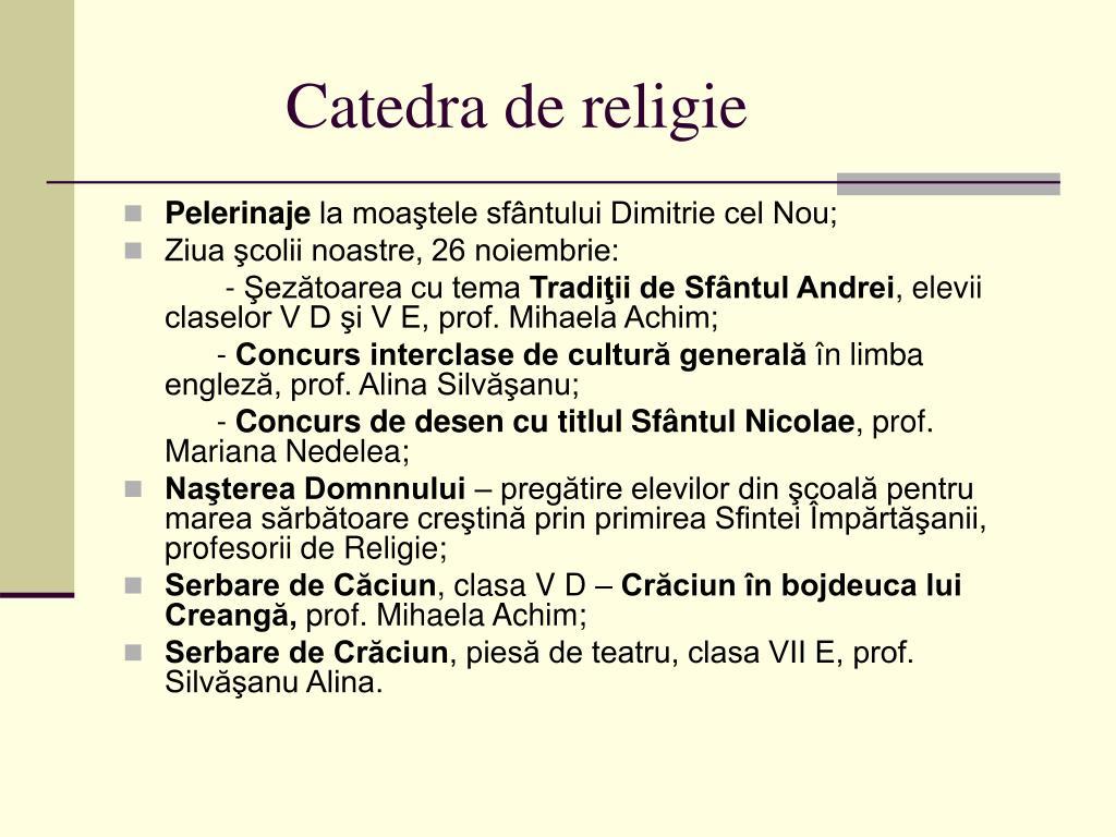 Catedra de religie