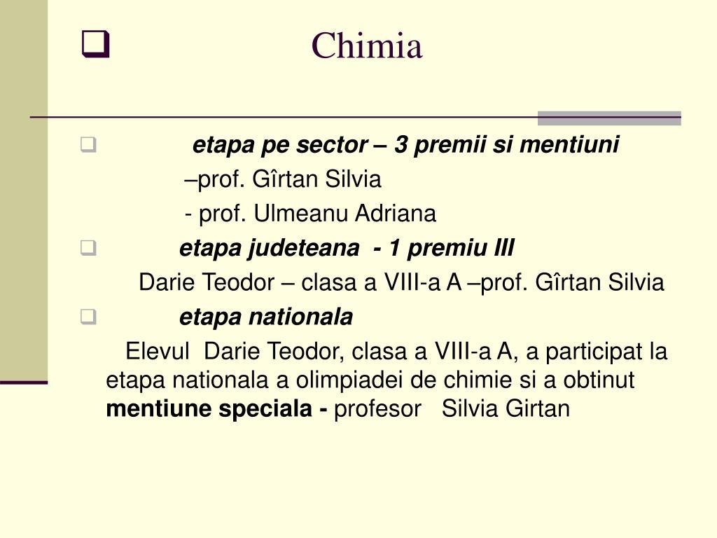 Chimia