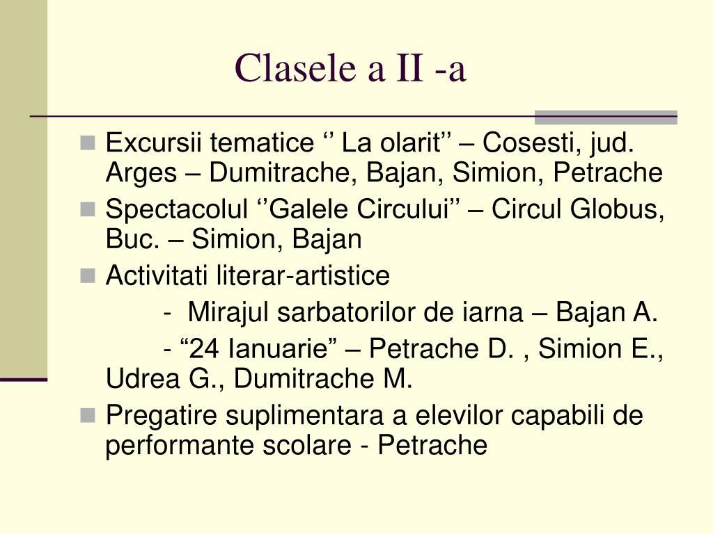 Clasele a II -a