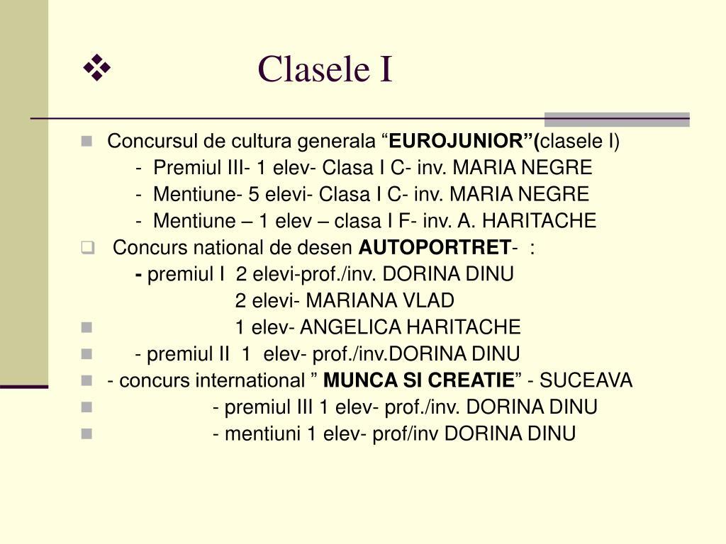 Clasele I