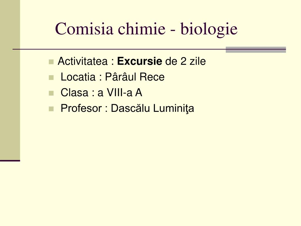 Comisia chimie - biologie