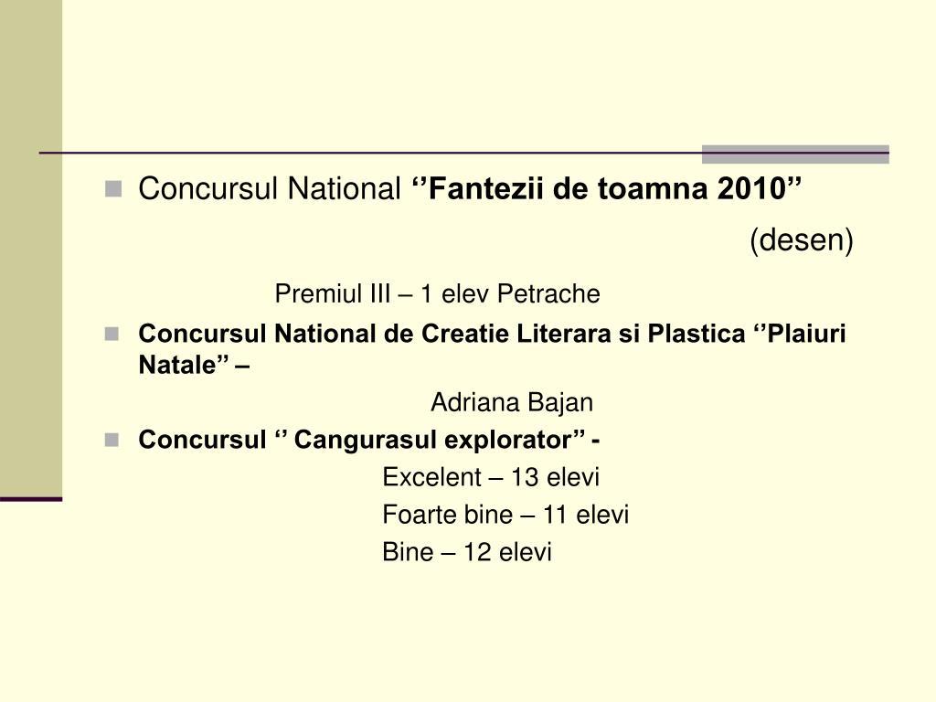 Concursul National