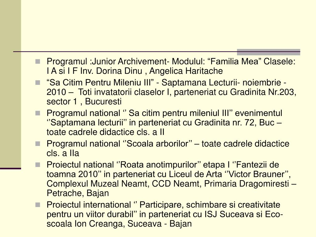 Programul :Junior Archivement