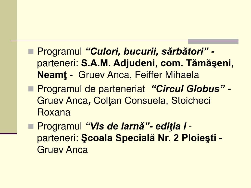 Programul