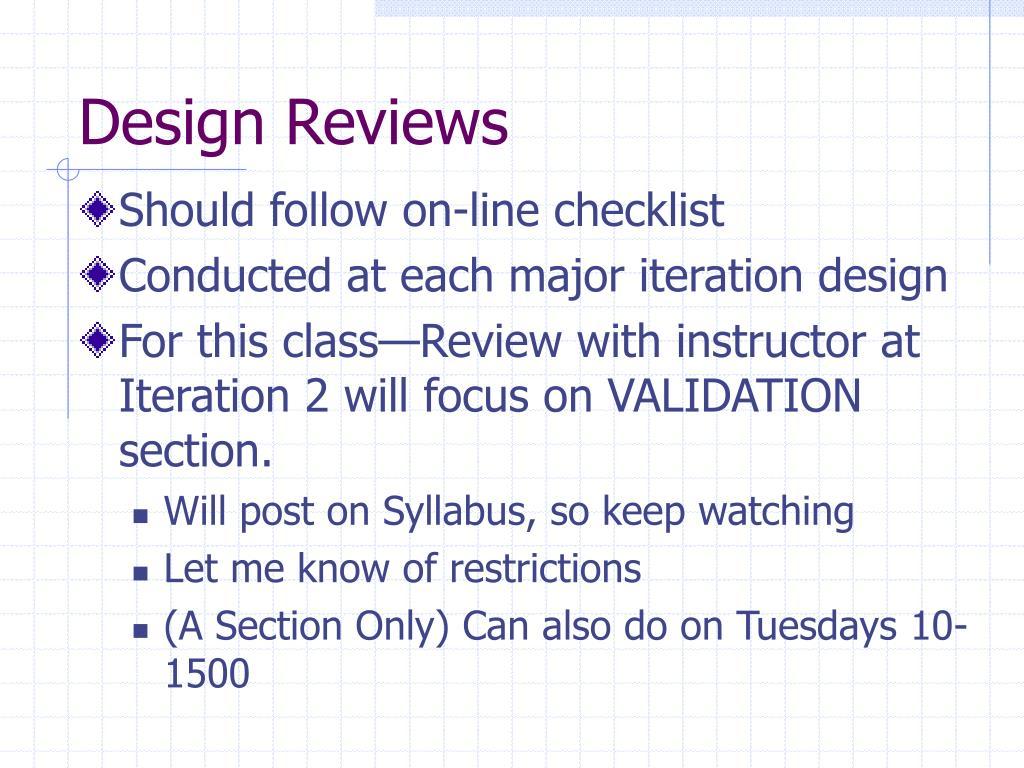 Design Reviews