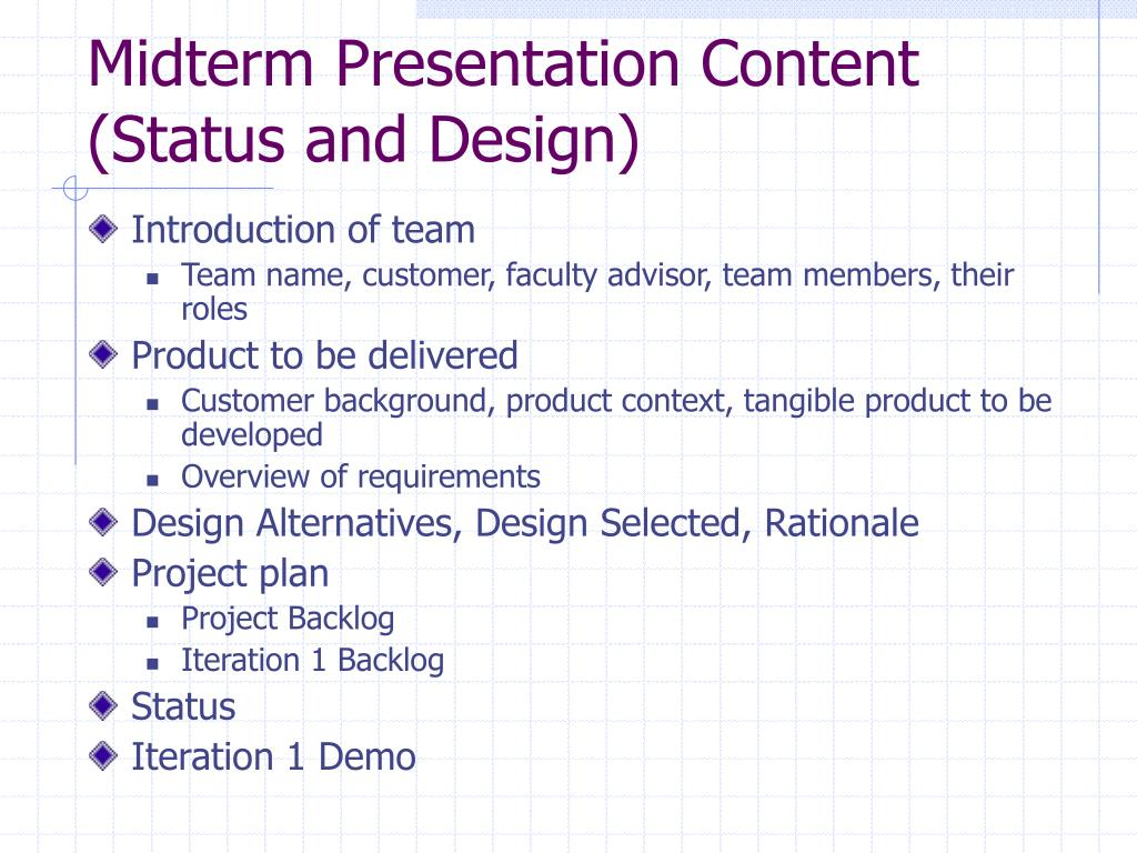 Midterm Presentation Content